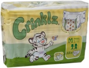 Crinklz Windelhose Medium Nacht bunt , 15er Packung