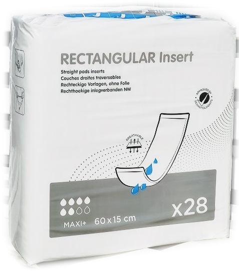 Rectangular Insert pad MAXI+ Vorlagen ohne Folie 60x15cm ,28er Packung