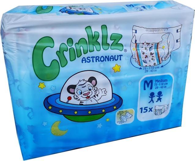 Astronaut Crinklz Windelhose Medium Nacht bunt , 15er Packung 15.25.31.7082