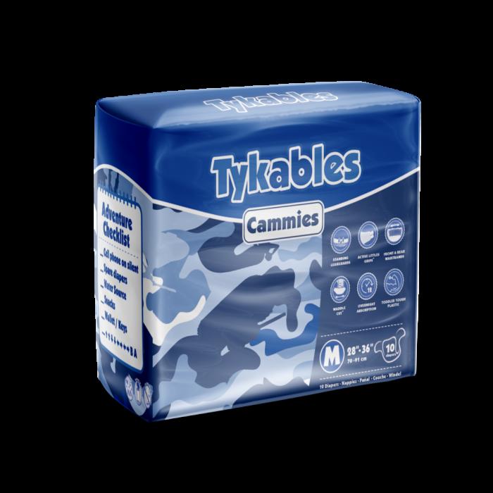 Tykables Cammies Windelhose large bunt , 10er Packung