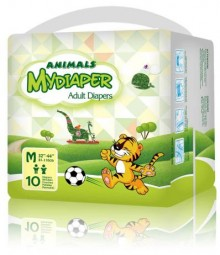 MyDiaper Animal Nacht Windel Gr.M , bunt, 10er Packung