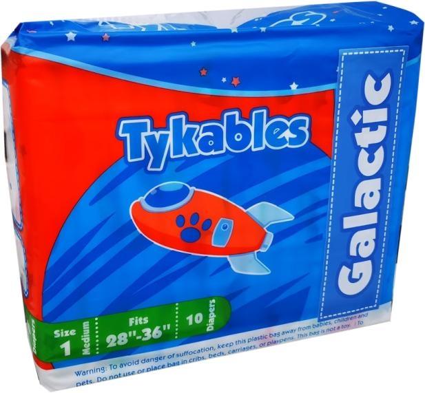 Tykables Galactic Windelhose medium Size1 ,10er Packung