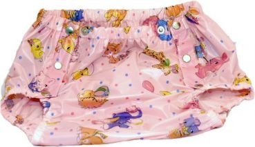 VBA Super Slip PVC ,rosa mit Tiermotiven , grosse Metalldrucker Sonderanfertigung
