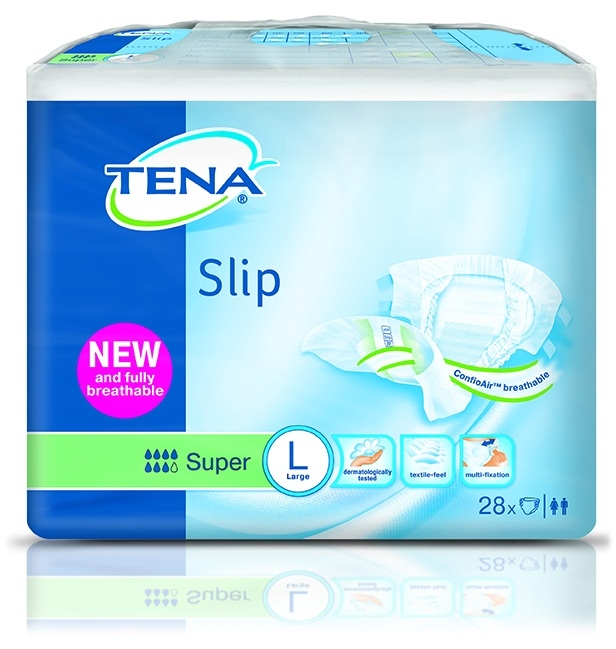 Tena Slip Super , large ,weiss/gruen ,15.25.31.8072 ,28er Packung