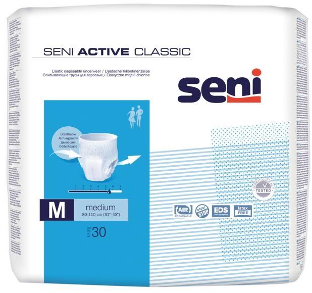 Seni Active Classic Pants medium ,15.25.31.4048 ,30er Packung