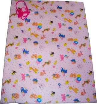 VBA Wickelunterlage MAUREEN ca. 132x90cm rosa mit bunten Kindermotiven