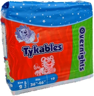Tykables Overnights Windelhose large bunt Size2 T02, 10er Packung
