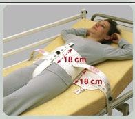 SEGUFIX-Standard mit Schrittgurt und Magnetverschluss Gr. M, extra lange Betthalterung