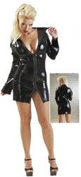 Latex Minikleid schwarz S