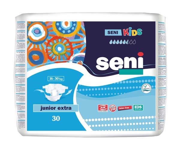 Seni Kids Junior Extra Windel , weiss/blau ,15.25.03.6002 ,30er Packung