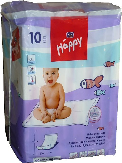 Bella Happy Wickelunterlagen 60x90cm, 10er Packung