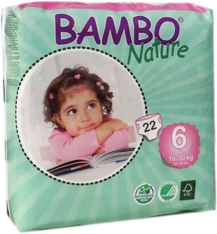 Bambo Nature XL Plus 16-30 kg Groesse 6 , 6x22 Stueck