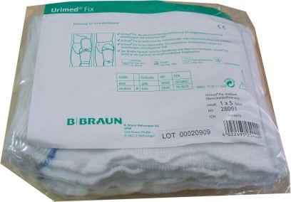 B.Braun Urimed Fix blau medium 5er Packung Fixierung f. Urin Beinbeutel 15.25.11.1028