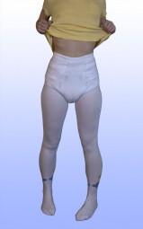 VBA Adult Baby Strickstrumpfhose weiss/bunt