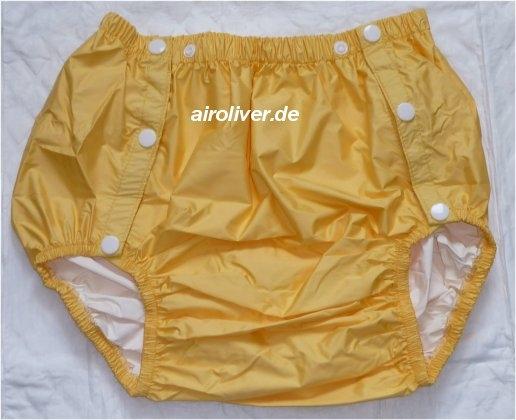 2204 PU Schwedenknoepfer ,gelb, extra breiter Schritt