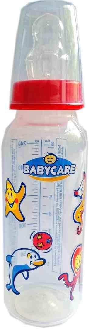 Babycare PP-Flasche mit Motiv 240ml Silikon Gr.2 Flasche