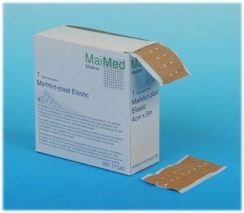 MaiMed plast Elastic Wundschnellverband 6cm x 5m , Spenderbox