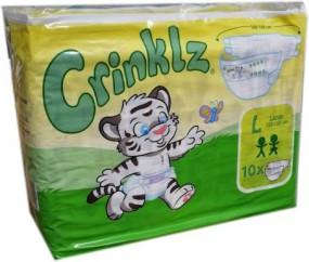 Crinklz Windelhose Large Nacht bunt , 10er Packung