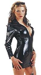 Lack-Uniform-Kleid schwarz S
