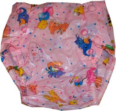 Septor Inkontinenz-Schutzhose knoepfbar , bunte rosa Kindermotive