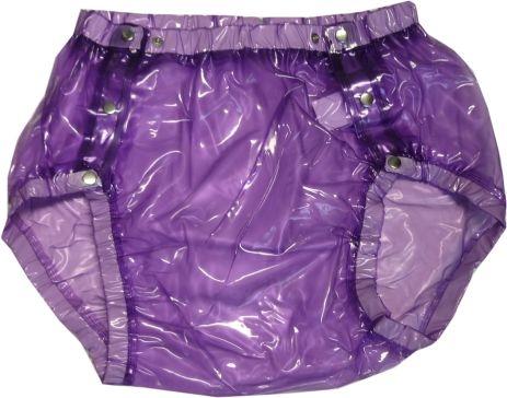 Su Slip PVC , grosse Metalldrucker Nr.1249 glass clear purple lila-