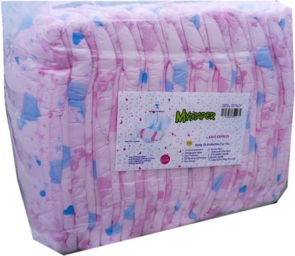 MyDiaper Pink Nacht Windel Gr.M , bunt, 10er Packung
