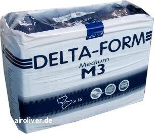 Delta-Form M3 Gr.M Inko-Slip,Nacht, 15.25.03.1289, 15er Packung