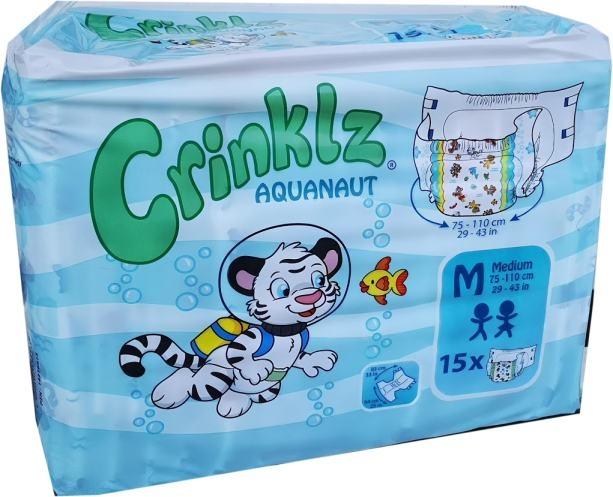 Aquanaut Crinklz Windelhose Medium Nacht bunt , 15er Packung 15.25.31.7082