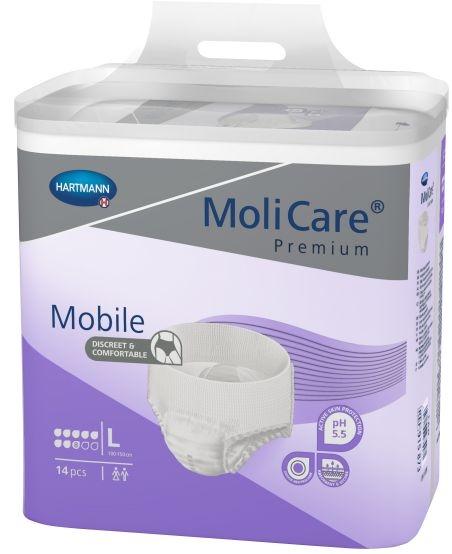 MoliCare Mobile 8 Super Gr.L large ,weiss/lila ,15.25.24.2254 ,14er Packung