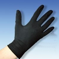 Latex-Unters.Handschuhe puderfr. schwarz Gr.M 100 St. 19.99.01.0014