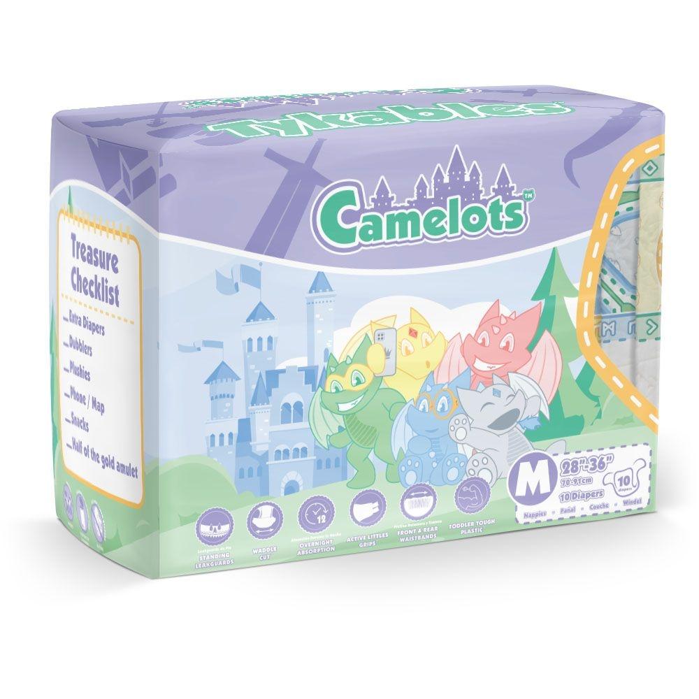 Tykables Camelots Windelhose medium bunt ,10er Packung