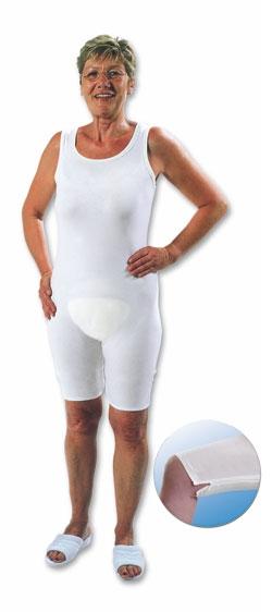 Suprima Body ohne Arm No.4698, mit Bein, mit Reissverschluss weiss