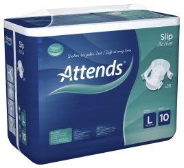 Attends Slip Active No.10, large , 15.25.03.2032, 28er Packung