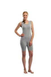 Suprima Body ohne Arm No.4696, mit Reissverschluss ,grau-grey