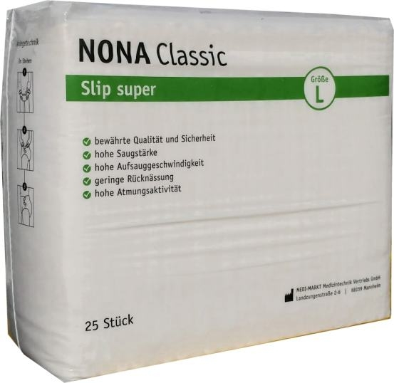 Nona Classic Slip super large , weiss 25er Packung