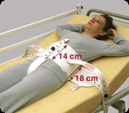 SEGUFIX-Standard mit Schrittgurt und Magnetverschluss Gr. S, extra lange Betthalterung