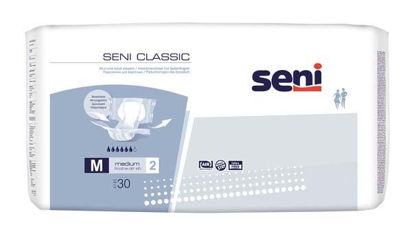 Seni Classic TAG Windel medium Gr.2 , weiss-blau ,15.25.03.4042 ,30er Packung