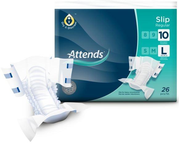 Attends Regular No.10 Slip, large , 15.25.03.2032, CottonFeel, 26er Packung