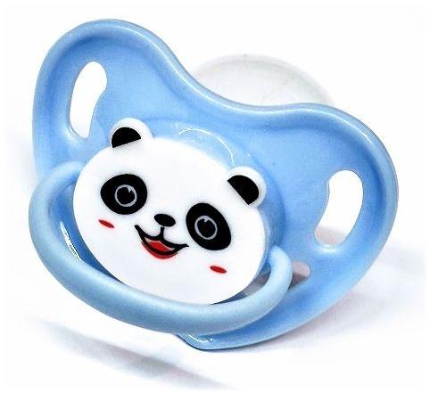 Deko Saugtrainer aus Silikon Gr.XL fuer Erwachsene Panda blau