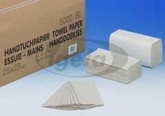 Quicky Handtuchpapier 25x23cm Tuecher 1lag. natur 5000Blatt Karton