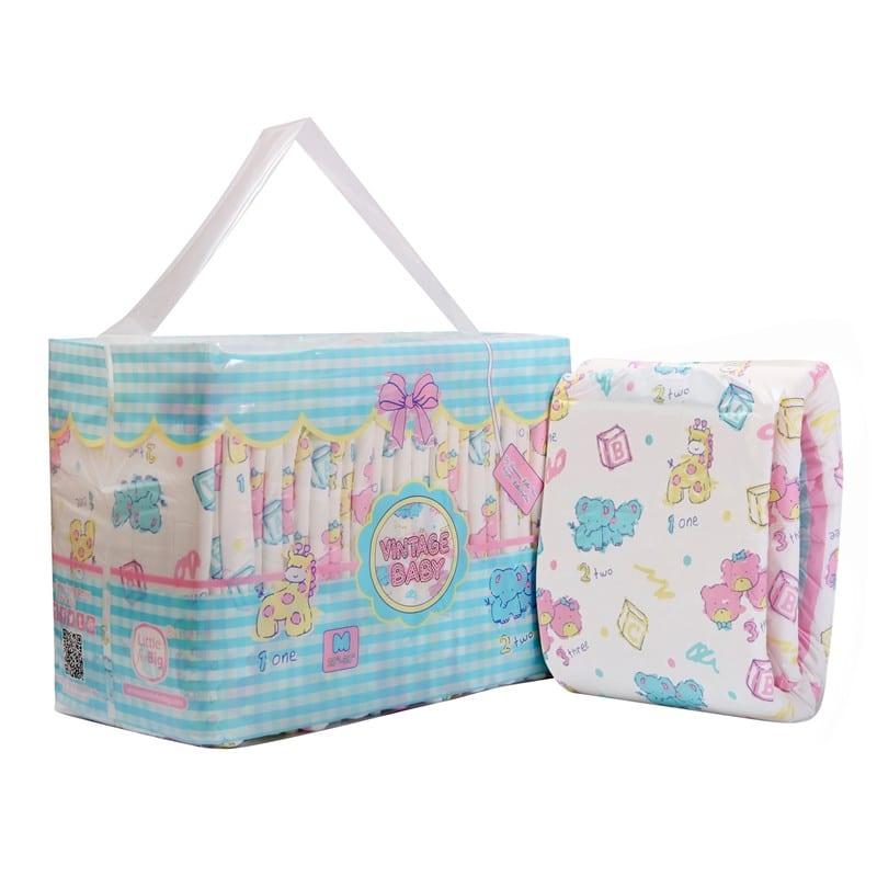 LFB Vintage Baby Adult Diaper, Large , 10er Packung