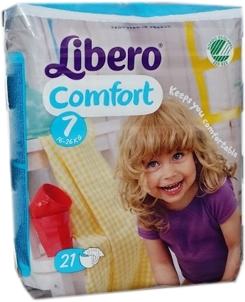Libero Comfort Windel XL Plus Gr.7 16-26 kg 1x21 Packung