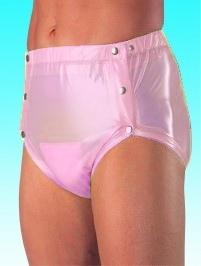 Suprima Slip PVC , grosse Metalldrucker Nr.1249 rosa