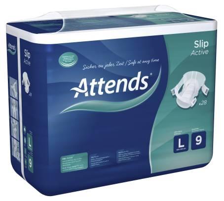 Attends Slip Active No.9, Large, 15.25.03.2000, 28er Packung