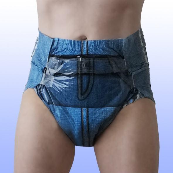 Fabine Mega Booster dreamlike Jeanswindel blau , large , Einzelstueck