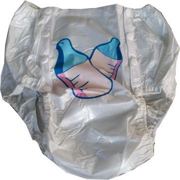 airoliver PVC Schwedenknoepfer No.1201 print hoch geschnitten